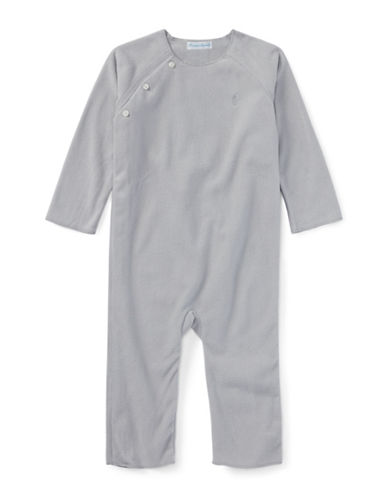 Ralph Lauren Childrenswear Lux Fleece Coverall-GREY-9 Months