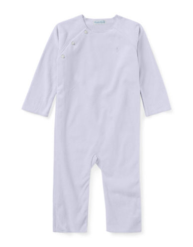 Ralph Lauren Childrenswear Lux Fleece Coverall-PURPLE-3 Months