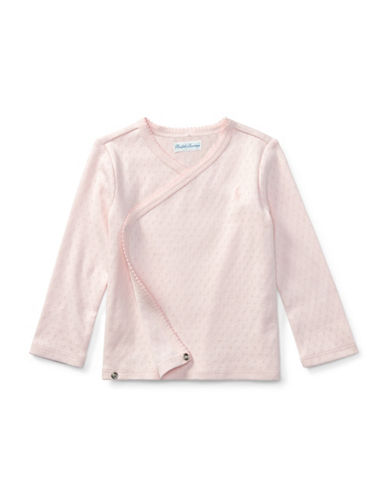 Ralph Lauren Childrenswear Pointelle Cotton Kimono Top-LIGHT PINK-24 Months