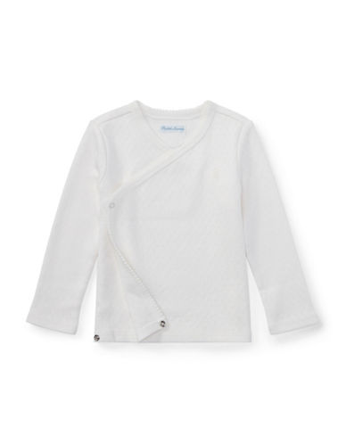 Ralph Lauren Childrenswear Pointelle Cotton Kimono Top-WHITE-18 Months