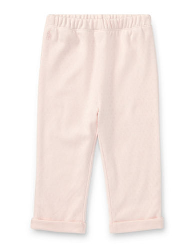 Ralph Lauren Childrenswear Pointelle Cotton Pants-LIGHT PINK-24 Months