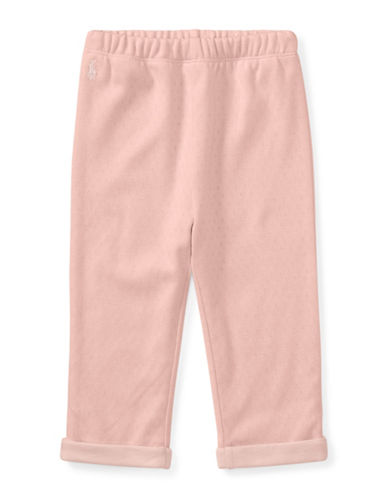 Ralph Lauren Childrenswear Pointelle Cotton Pants-PINK-9 Months