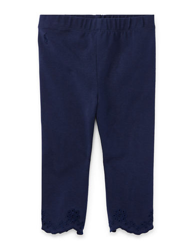 Ralph Lauren Childrenswear Scalloped Cuffs Jersey Leggings-BLUE-24 Months