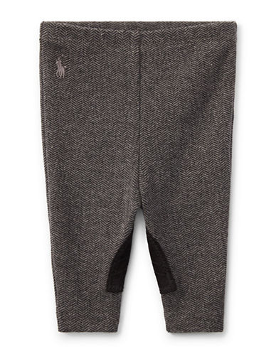 Ralph Lauren Childrenswear Stretch Jodhpur Skinny Leggings-GREY-18 Months