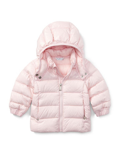 Ralph Lauren Childrenswear Quilted Hooded Jacket-PINK-6 Months