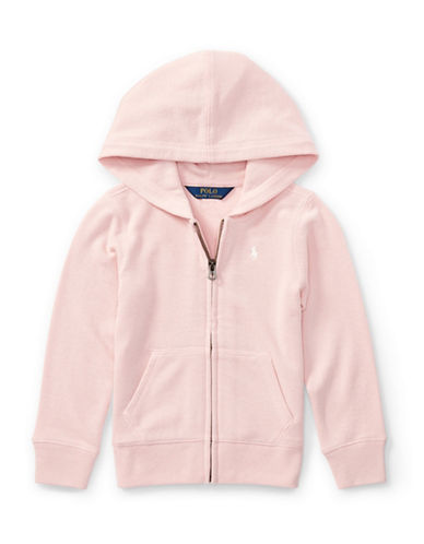 Ralph Lauren Childrenswear French Terry Full-Zip Hoodie-PINK-2