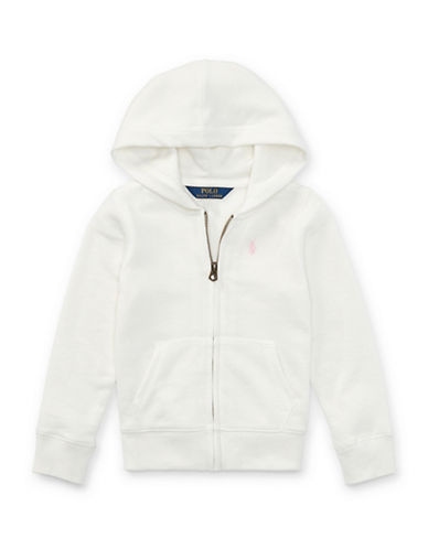 Ralph Lauren Childrenswear French Terry Full-Zip Hoodie-WHITE-4