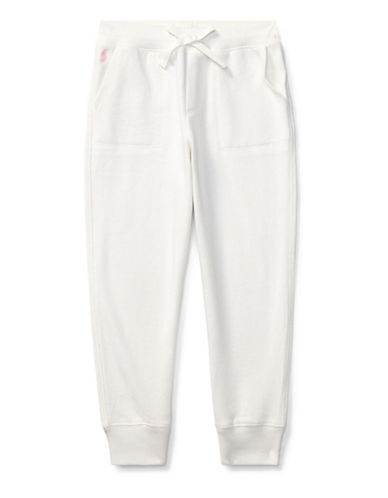 Ralph Lauren Childrenswear French Terry Jogger Pants-WHITE-4