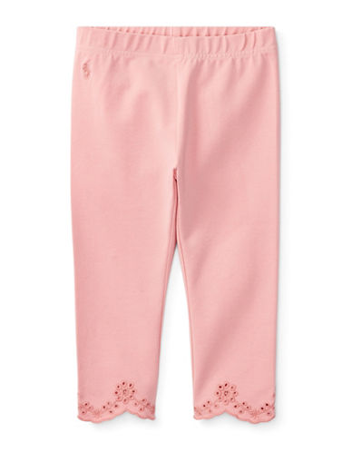 Ralph Lauren Childrenswear Eyelet-Cuff Capri Leggings-PINK-4