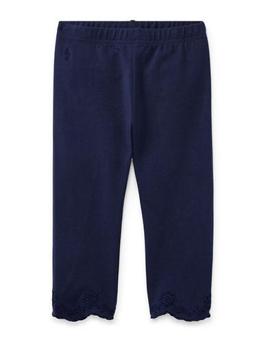 Ralph Lauren Childrenswear Eyelet-Cuff Capri Leggings-NAVY-4