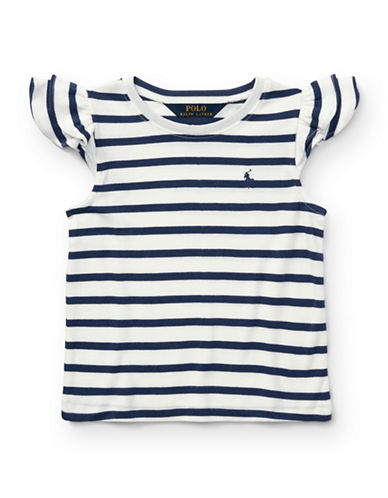 Ralph Lauren Childrenswear Flutter-Sleeve Top-WHITE-3