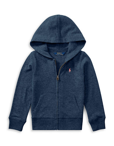 Ralph Lauren Childrenswear French Terry Full-Zip Hoodie-BLUE-6
