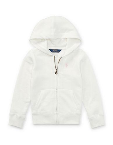 Ralph Lauren Childrenswear French Terry Full-Zip Hoodie-WHITE-6X