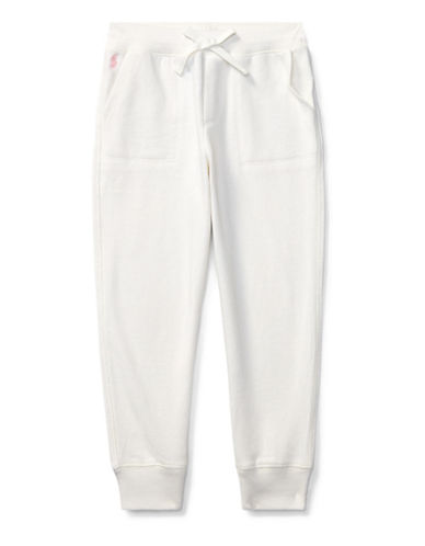 Ralph Lauren Childrenswear French Terry Jogger Pants-WHITE-6X