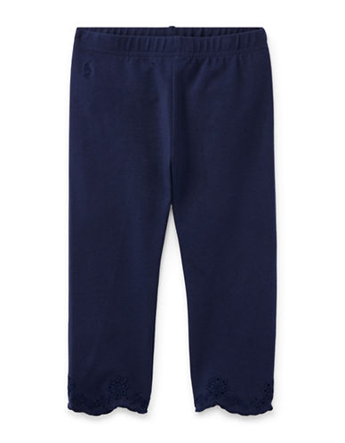 Ralph Lauren Childrenswear Eyelet-Cuff Capri Leggings-NAVY-6
