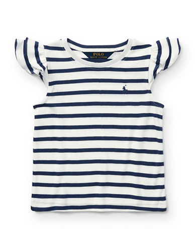 Ralph Lauren Childrenswear Flutter-Sleeve Top-WHITE-5