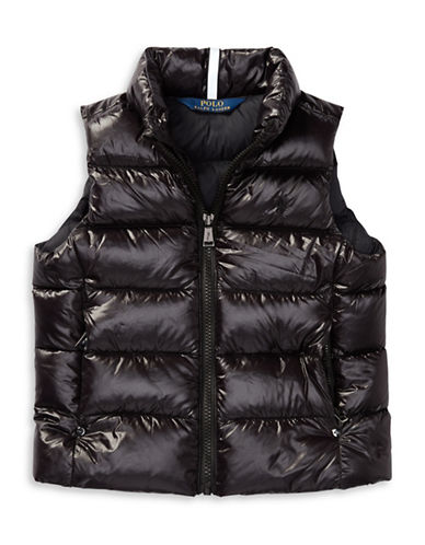 Ralph Lauren Childrenswear Quilted Down Vest-BLACK-4