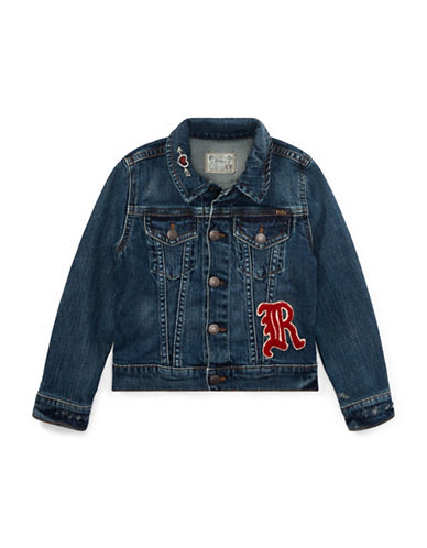Ralph Lauren Childrenswear Patchwork Denim Trucker Jacket-BLUE-5