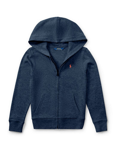 Ralph Lauren Childrenswear French Terry Full-Zip Hoodie-BLUE-XLarge 89525914_BLUE_XLarge