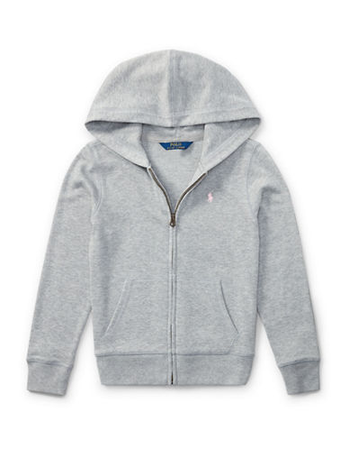 Ralph Lauren Childrenswear French Terry Full-Zip Hoodie-GREY-Large