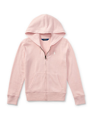 Ralph Lauren Childrenswear French Terry Full-Zip Hoodie-PINK-XLarge 89525922_PINK_XLarge