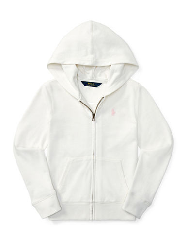 Ralph Lauren Childrenswear French Terry Full-Zip Hoodie-WHITE-Medium 89525924_WHITE_Medium