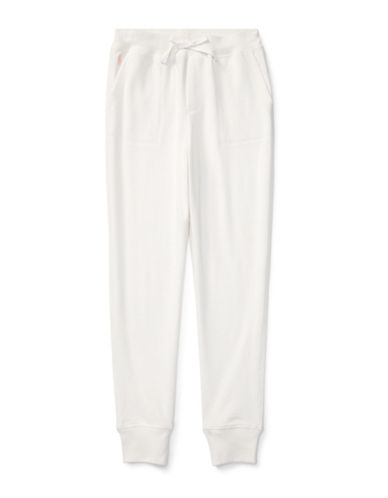 Ralph Lauren Childrenswear French Terry Jogger Pants-WHITE-Medium 89525940_WHITE_Medium