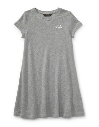 Ralph Lauren Childrenswear French Terry Tee Dress-GREY-Large 89700054_GREY_Large