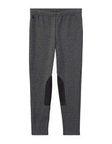 Ralph Lauren Childrenswear Herringbone Jodhpur Leggings-GREY-Small