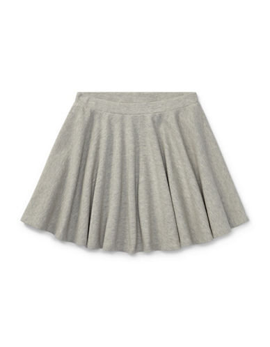 Ralph Lauren Childrenswear Ribbed Circle Skirt-GREY-Large
