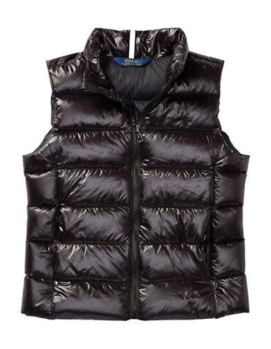 Ralph Lauren Childrenswear Quilted Down Vest-BLACK-Medium