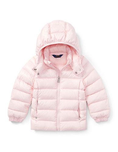 Ralph Lauren Childrenswear Hooded Down Jacket-PINK-Large