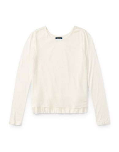 Ralph Lauren Childrenswear Long-Sleeve Jersey Top-WHITE-XLarge