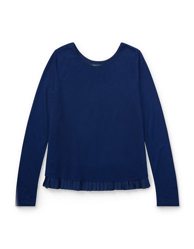 Ralph Lauren Childrenswear Long-Sleeve Jersey Top-BLUE-Small