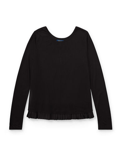 Ralph Lauren Childrenswear Long-Sleeve Jersey Top-BLACK-Large