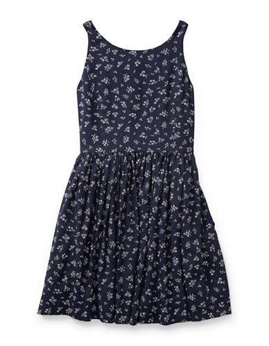 Ralph Lauren Childrenswear Floral Fit-and-Flare Dress-INDIGO-10