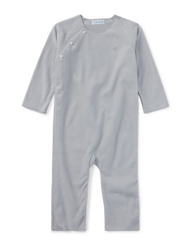 Ralph Lauren Childrenswear Fleece Coverall-GREY-3 Months