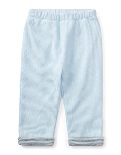 Ralph Lauren Childrenswear Waffle-Knit Cotton Jogger Pants-BLUE-24 Months