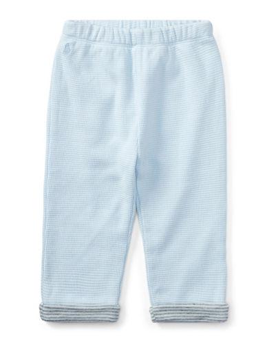 Ralph Lauren Childrenswear Waffle-Knit Cotton Jogger Pants-BLUE-12 Months
