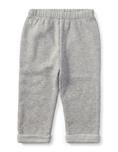 Ralph Lauren Childrenswear Waffle-Knit Cotton Jogger Pants-GREY-18 Months