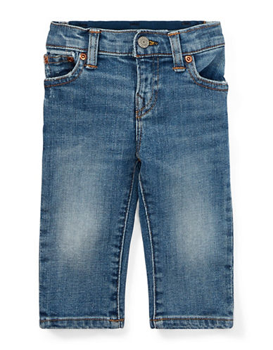 Ralph Lauren Childrenswear Eldridge Denim Jeans-BLUE-9 Months