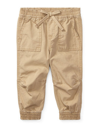 Ralph Lauren Childrenswear Cotton Ripstop Jogger Pants-BEIGE-12 Months