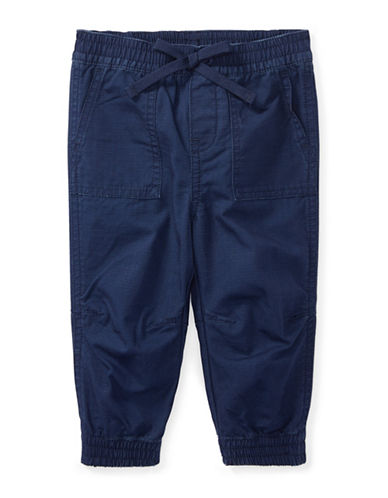 Ralph Lauren Childrenswear Cotton Ripstop Jogger Pants-BLUE-12 Months