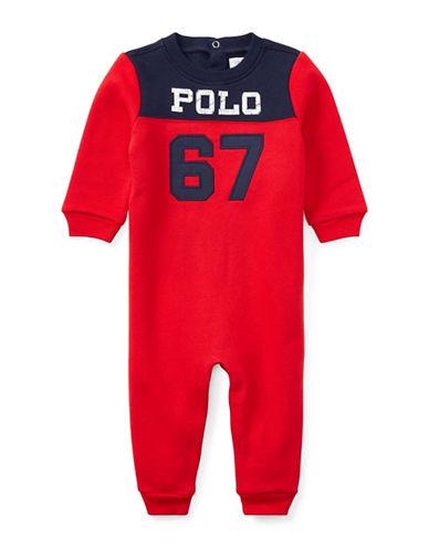 Ralph Lauren Childrenswear Fleece Coverall-RED-3 Months