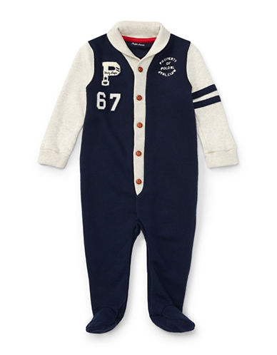 Ralph Lauren Childrenswear Cotton French Terry Coverall-BLUE-6 Months