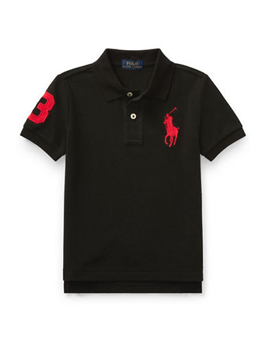 Ralph Lauren Childrenswear Cotton Mesh Polo-BLACK-2