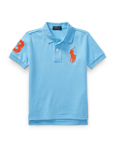 Ralph Lauren Childrenswear Cotton Mesh Polo-LIGHT BLUE-4