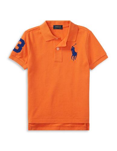 Ralph Lauren Childrenswear Cotton Mesh Polo-ORANGE-3