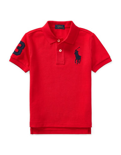 Ralph Lauren Childrenswear Cotton Mesh Polo-RED-4