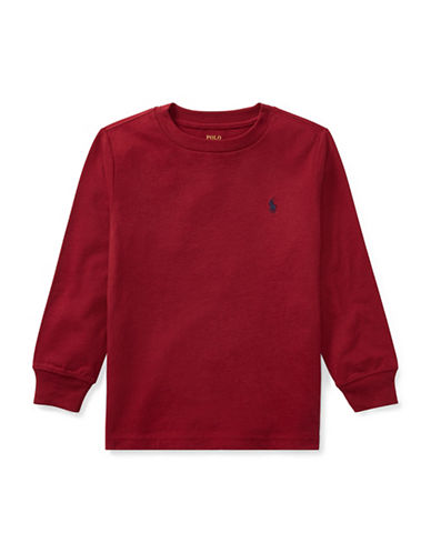Ralph Lauren Childrenswear Long-Sleeve Cotton Jersey T-Shirt-RED-2T